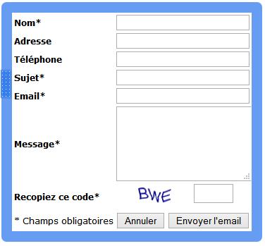 Ajouter un formulaire de contact
