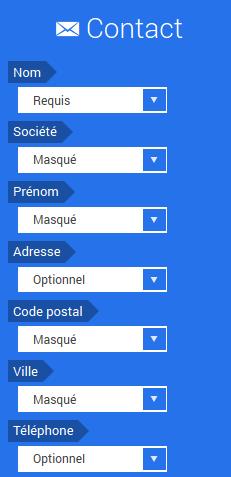 Créer formulaire contact site internet