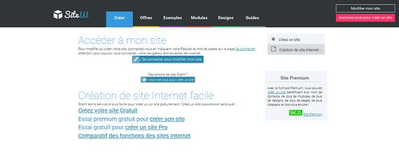 Création de site sur SiteW