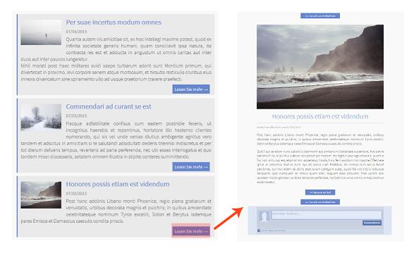 Erstellen Sie eine Homepage, um Ihre Artikel ins Detail zu veröffentlichen.