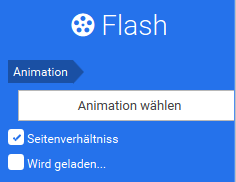 Flash Animationen konfigurieren