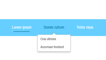 horizontal Position für das dropdown Menu