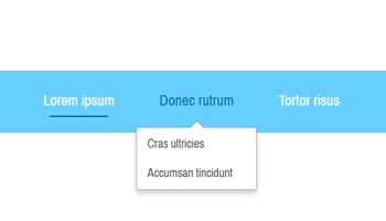 Position horizontale pour le menu déroulant