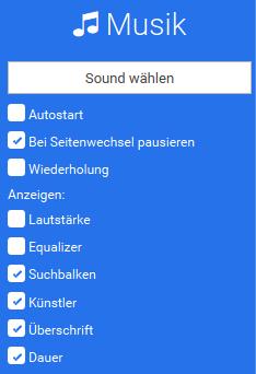 Musikmodul konfigurieren