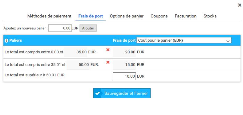 Gestion des frais de port de votre boutique en ligne - Thomann frais de port gratuit ...