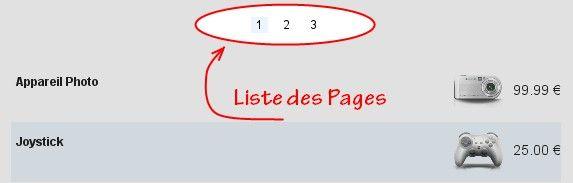 Page boutique en ligne
