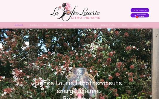 Ejemplo de sitio web La Fée Laurie