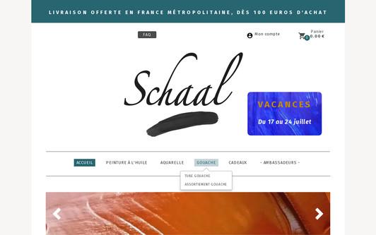 Site exemple SCHAAL - Couleurs pour artistes