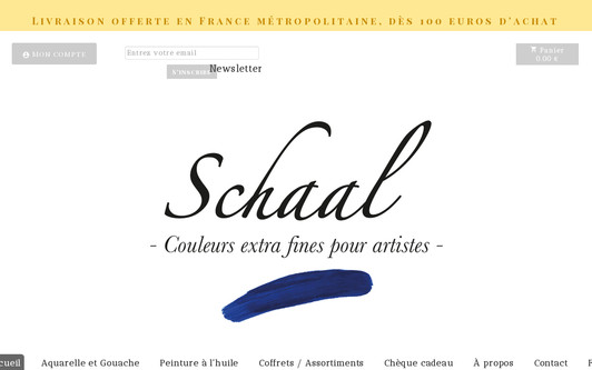 Ejemplo de sitio web SCHAAL - Couleurs pour artistes