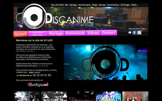Example website Podium Dj Animateur - Héraut - Dj luis