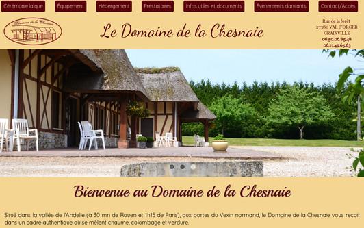 Ejemplo de sitio web Domaine de la Chesnaie - Plésant Traiteur