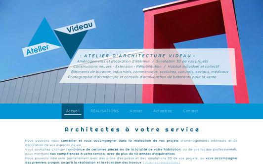 Ejemplo de sitio web Atelier VideAu