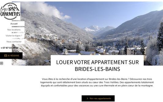 Site exemple Location et hébergement appartement Brides-les-Bains