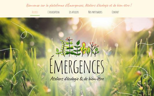 Site exemple Émergences, Ateliers d'écologie et de bien-être