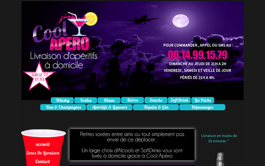 Example website COOL APERO