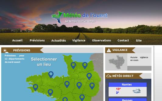 Ejemplo de sitio web Météo de l'ouest