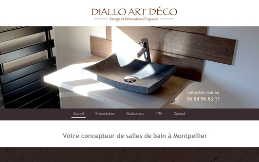 Site exemple L'espace salle de bain selon Diallo Art Déco