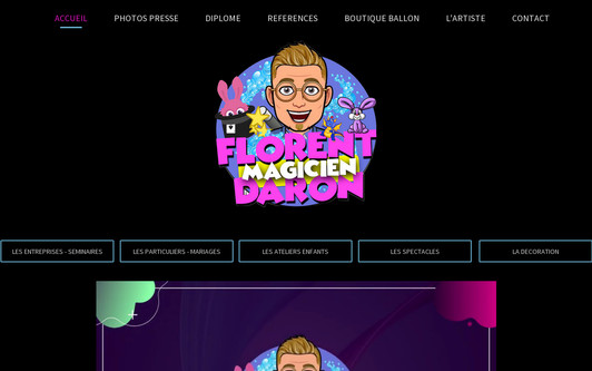 Site exemple Magicien pour les enfants - école - centre de loisirs - animation pour les enfants