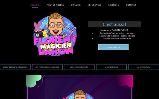 Site exemple Magicien mentaliste  - decorateur mariage et anniversaire