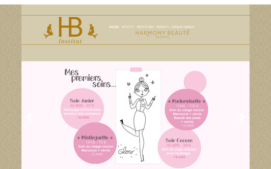 Ejemplo de sitio web Harmony Beauté