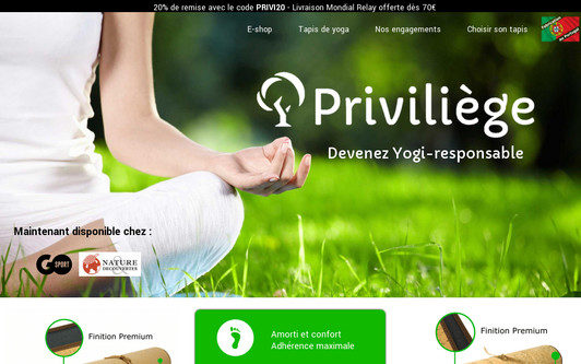 Site exemple Priviliege