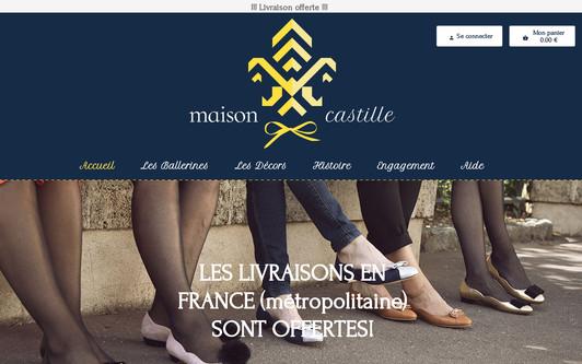 Example website Maison Castille