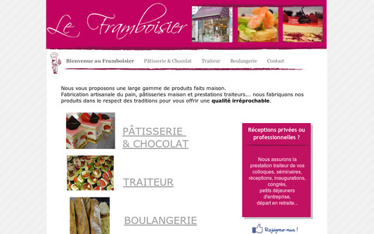 Example website Le Framboisier
