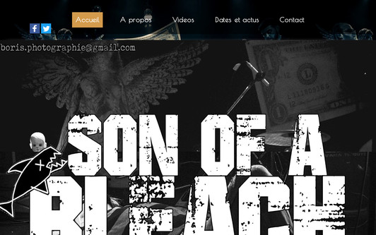 Site exemple Son of a Bleach Nirvana tribute band