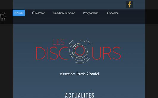 Example website Les Discours
