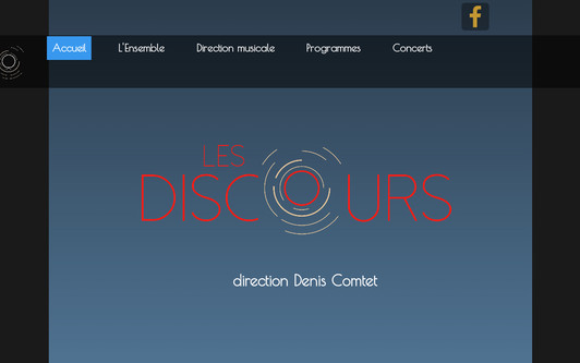 Ejemplo de sitio web Les Discours