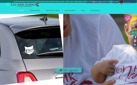 Ejemplo de sitio web Cadeaux future maman, naissance, bébé, enfant 0-6 ans