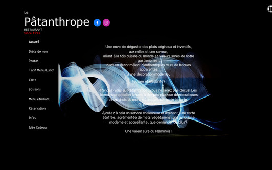 Example website Le Patanthrope