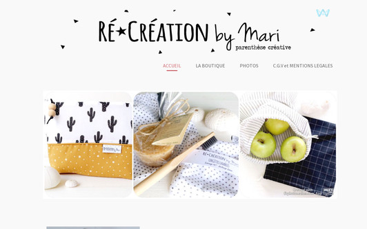 Example website Ré-Création by Mari