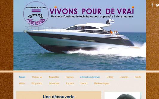 Site exemple VIVONS POUR DE VRAI