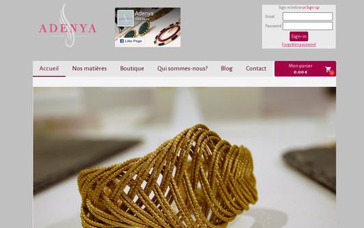 Example website Adenya