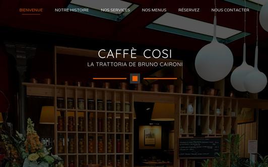Site exemple Caffè Cosi - Trattoria Bruno Caironi