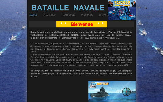 Example website Bataille Navale