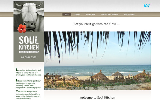 Example website Soul Kitchen