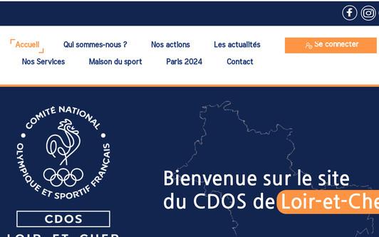 Site exemple Comité Départemental Olympique de Loir-et-Cher