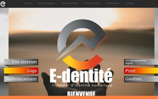 Site exemple E-dentité | Création identité visuelle &  visibilité digitale