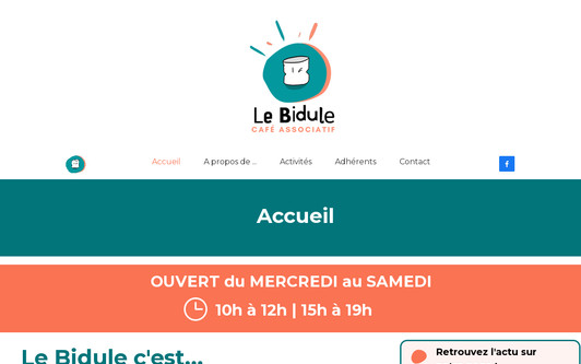 Example website lebidule-cafe