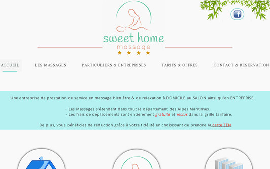 Ejemplo de sitio web sweet-homemassage