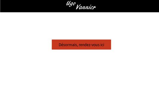 Example website Ugo Vannier