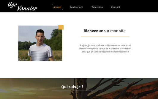 Ejemplo de sitio web Ugo Vannier