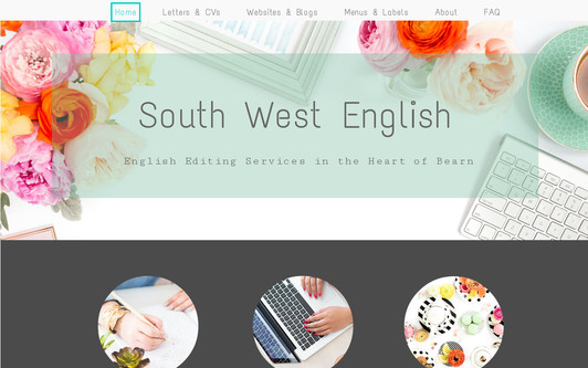 Ejemplo de sitio web South West English