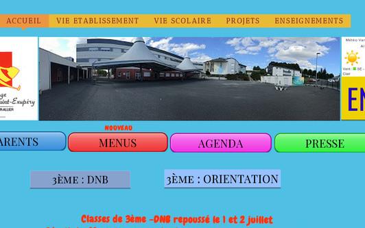 Site exemple Collège Antoine de saint Exupéry Varennes sur Allier