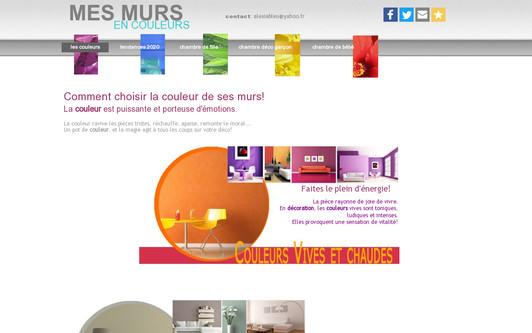 Example website mesmursencouleurs