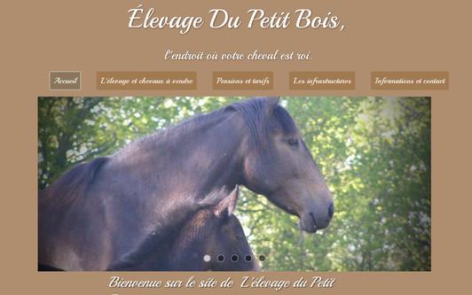 Site exemple Élevage Du Petit Bois