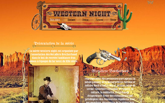 Site exemple westernnight