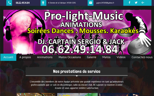 Site exemple PRO-LIGHT-MUSIC